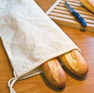 Natural Bread Bag, Drawstring Bag